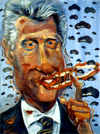 caricature of President Clinton