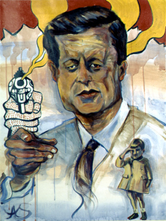 caricature of President Kennedy